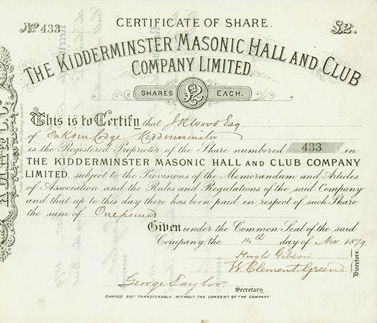 Kidderminster Masonic Hall and Club Company Limited