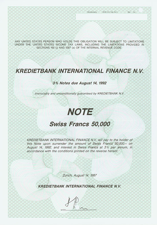 Kredietbank International Finance N. V.