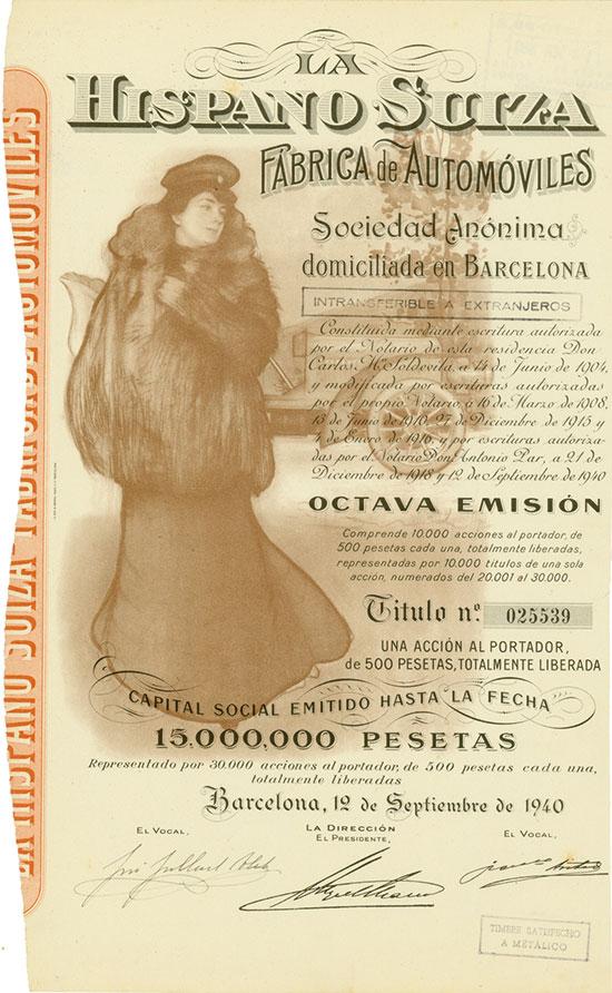 La Hispano Suiza Fábrica de Automóviles Sociedad Anónima
