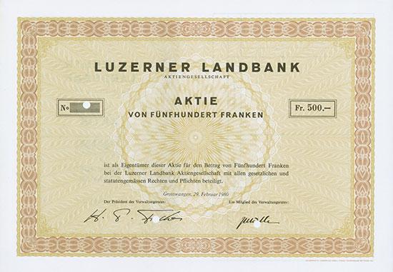Luzerner Landbank AG