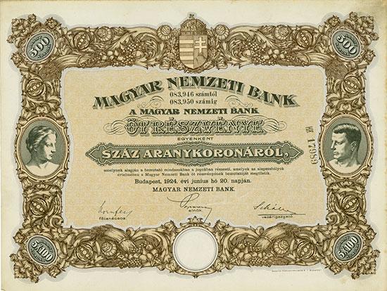 Magyar Nemzeti Bank / Ungarische Nationalbank