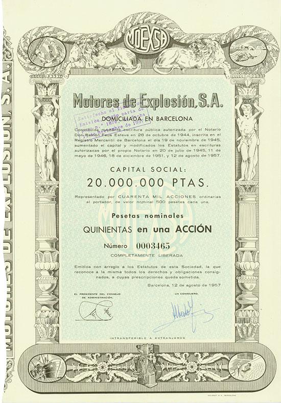 Motores de Explosión, S.A.