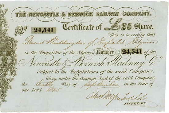 Newcastle & Berwick Railway Company