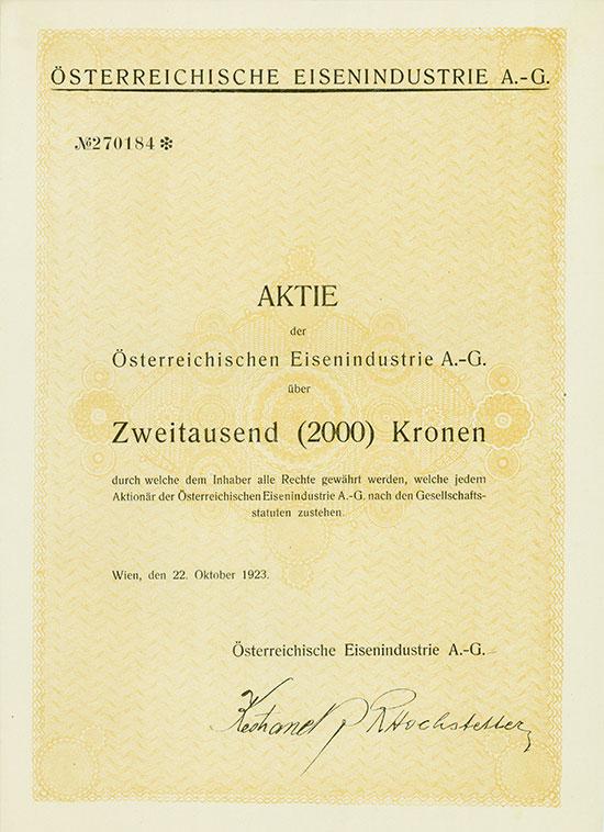 Österreichische Eisenindustrie AG