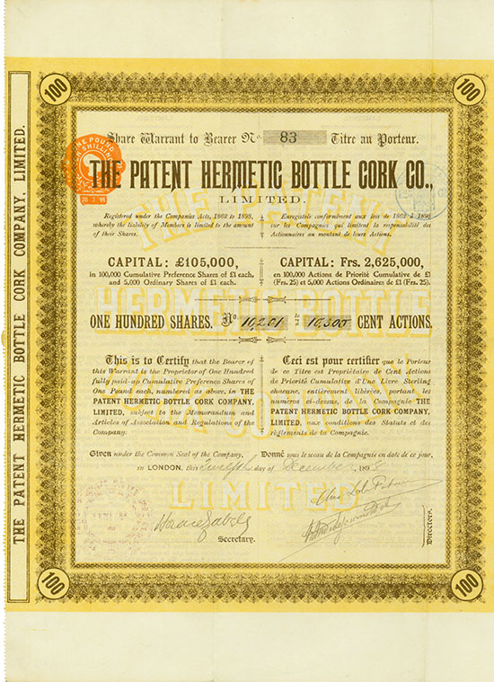 Patent Hermetic Bottle Cork Co., Limited