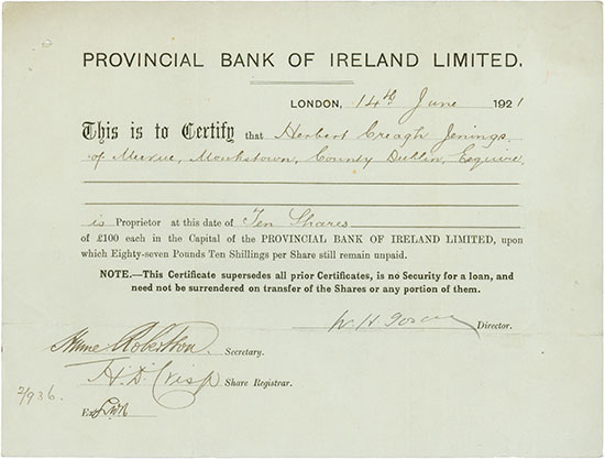 Provincial Bank of Ireland Limited