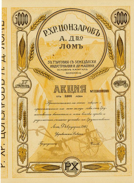 R. Chr. Zonsarow AG für Handel mit Landwirtschafts-, Industrie- und sonstigen Maschinen
