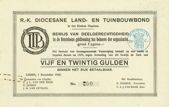 R.-K. Diocesane Land- en Tuinbouwbond in het Bisdom Haarlem