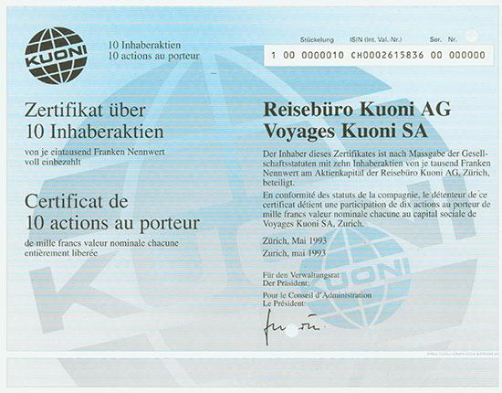 Reisebüro Kuoni AG / Voyages Kuoni SA