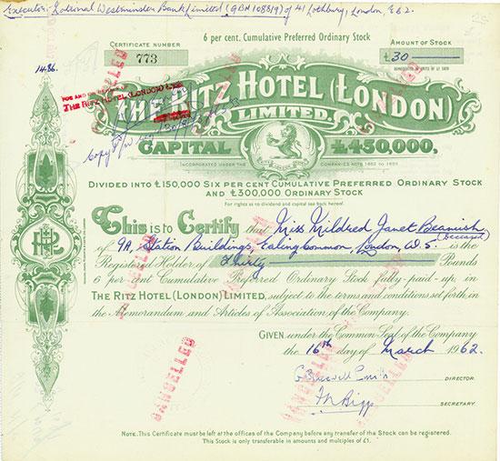 Ritz Hotel (London) Limited