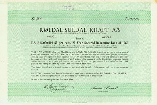 Røldal-Suldal Kraft A/S