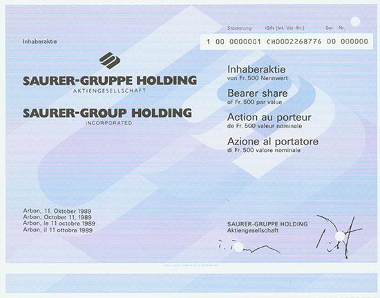 Saurer-Gruppe Holding AG