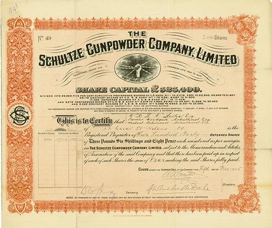 Schultze Gunpowder Company, Limited