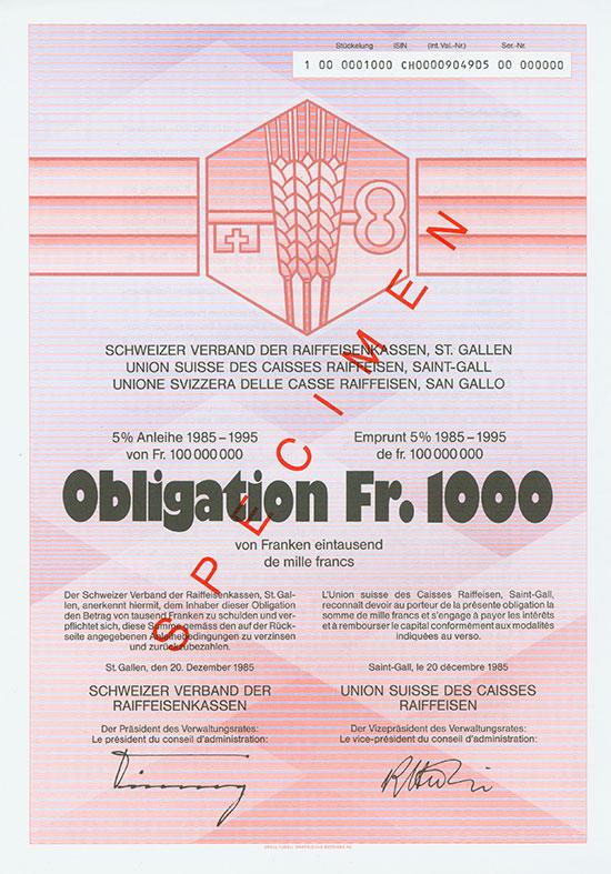 Schweizer Verband der Raiffeisenkassen / Union Suisse des Caisses Raiffeisen