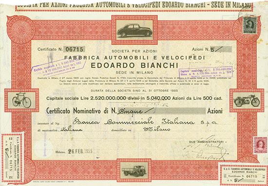 Societa per Azioni Fabbrica Automobili e Velocipedi Edoardo Bianchi