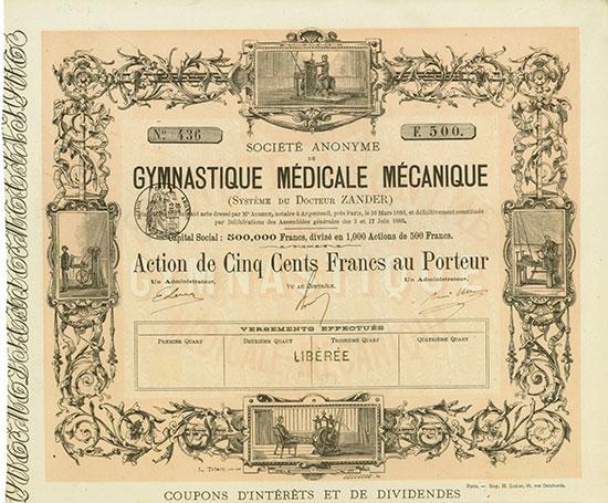 Société Anonyme de Gymnastique Médicale Mécanique (Systéme du Docteur Zander)