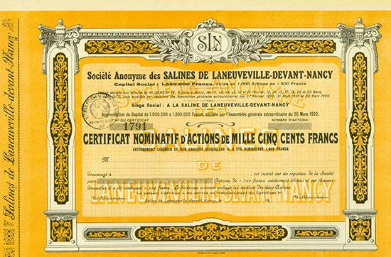 Société Anonyme des Salines de Laneuveville-devant-Nancy