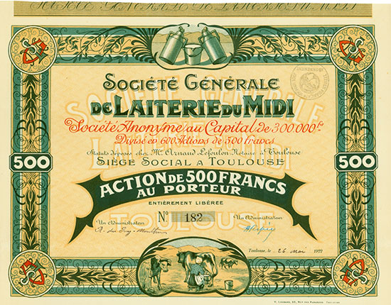Société Générale de Laiterie du Midi Société Anonyme