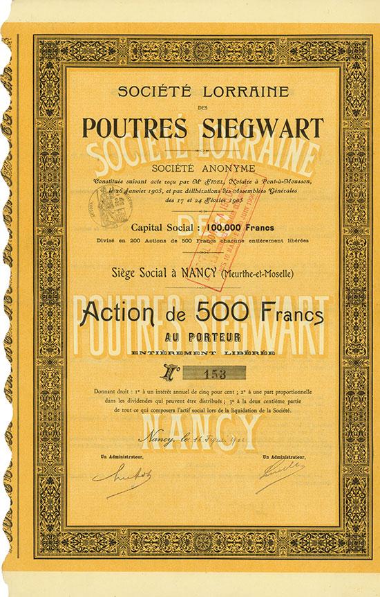 Société Lorraine des Poutres Siegwart