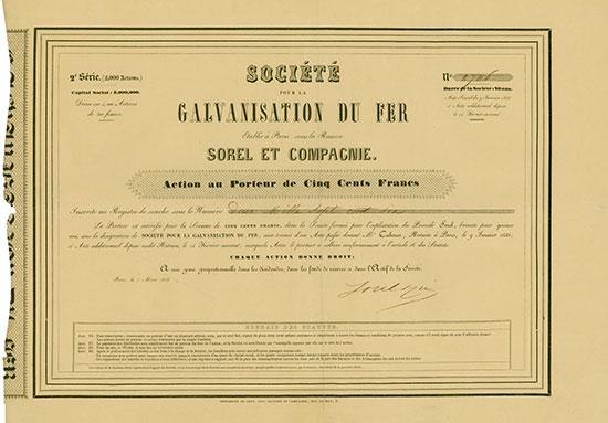 Société pour la Galvanisation du Fer Sorel at Compagnie