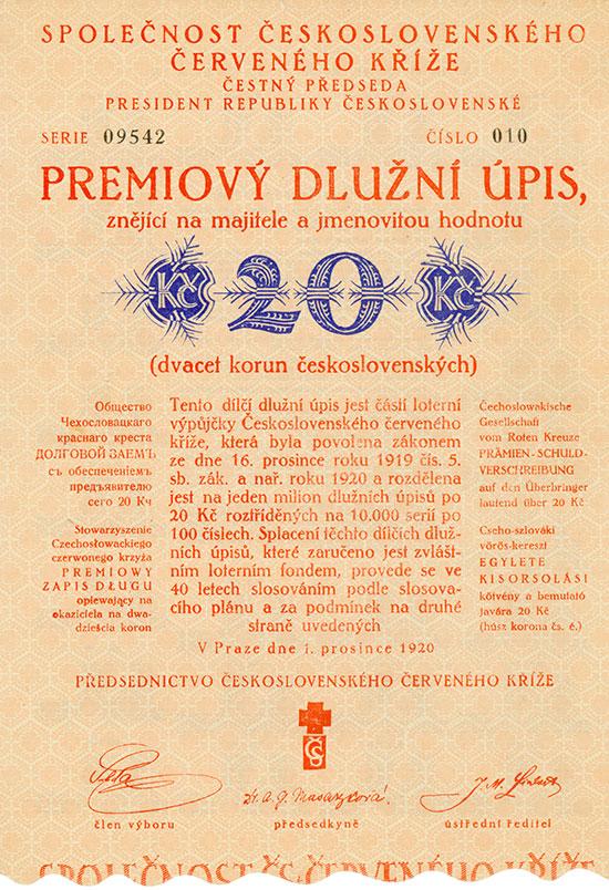 Tschechoslowakische Gesellschaft vom Roten Kreuze / Společnost Československého Červeného Kříže
