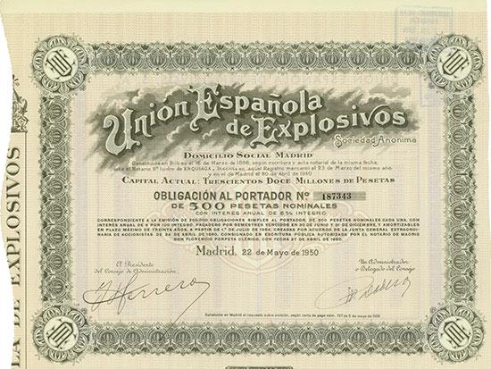 Unión Española de Explosivos, Sociedad Anónima / Union Explosivos Rio Tinto, Sociedad Anónima  [6 Stück]