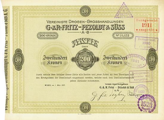 Vereinigte Drogen-Grosshandlungen G. & R. Fritz-Pezoldt & Süss AG