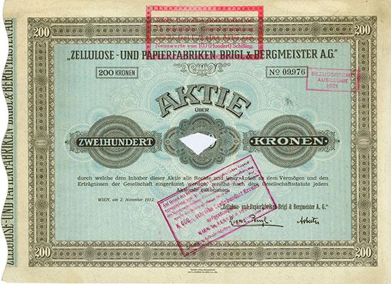 Zellulose- und Papierfabriken Brigl & Bergmeister A.G.