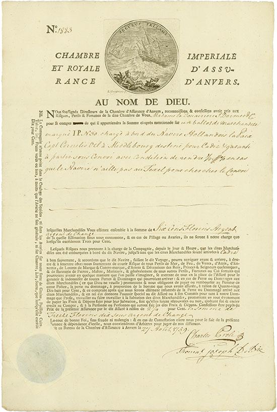 Chambre Imperiale et Royale d'Assurance d'Anvers