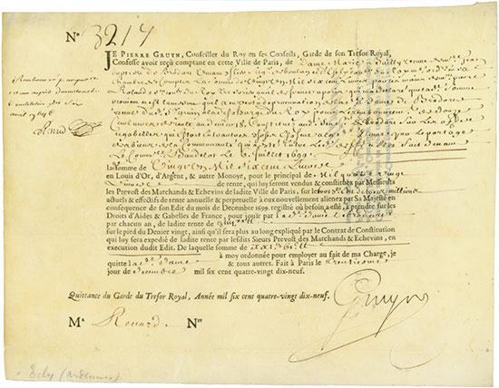 Rente Viagére - Edit de Decembre 1699