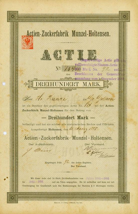 Actien-Zuckerfabrik Munzel-Holtensen