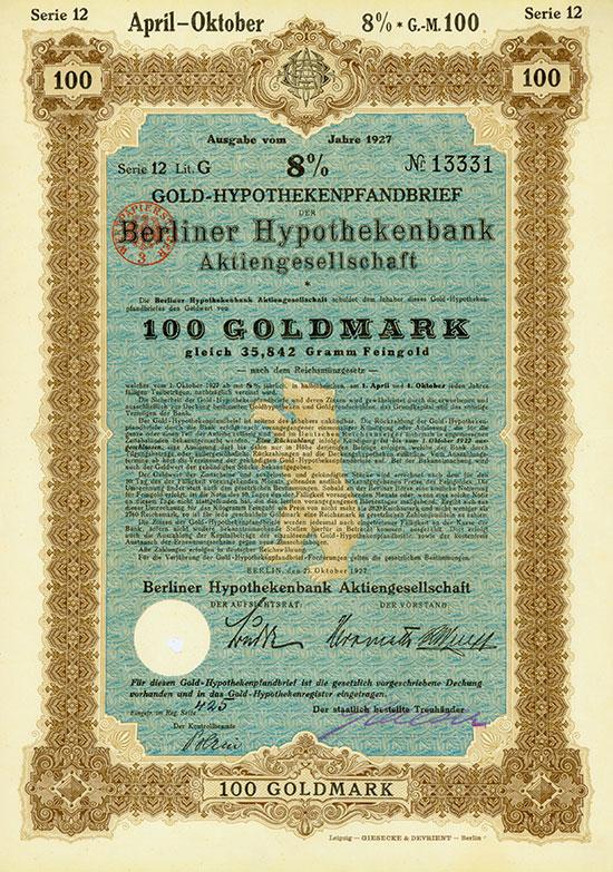 Berliner Hypothekenbank AG