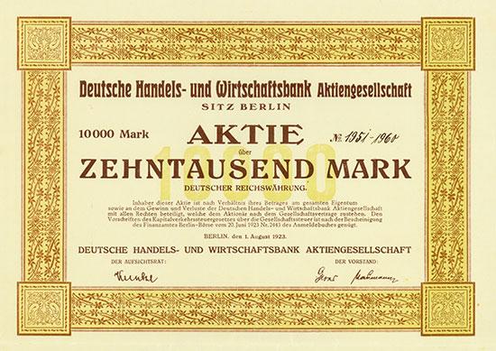 Deutsche Handels- und Wirtschaftsbank AG