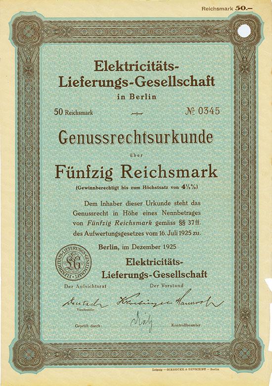 Elektricitäts-Lieferungs-Gesellschaft