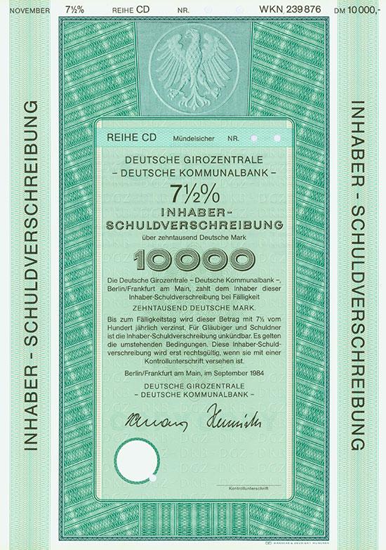Deutsche Girozentrale - Deutsche Kommunalbank - [3 Stück]