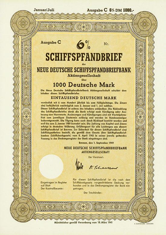 Neue Deutsche Schiffspfandbriefbank AG