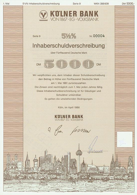 Kölner Bank von 1867 EG Volksbank [21 Stück]