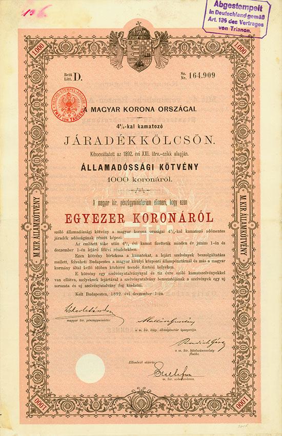 Königreich Ungarn [33 Stück]