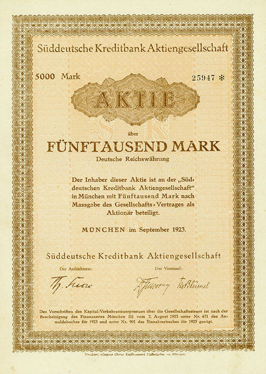 Süddeutsche Kreditbank AG [5 Stück]