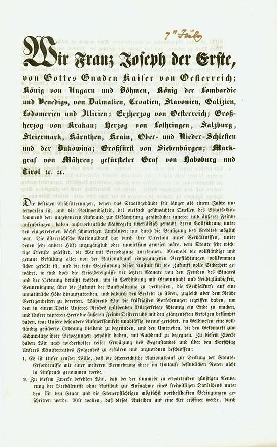 Franz Joseph der Erste, Kaiser von Österreich