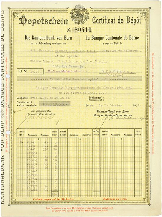 Kantonalbank von Bern / La Banque Cantonale de Berne