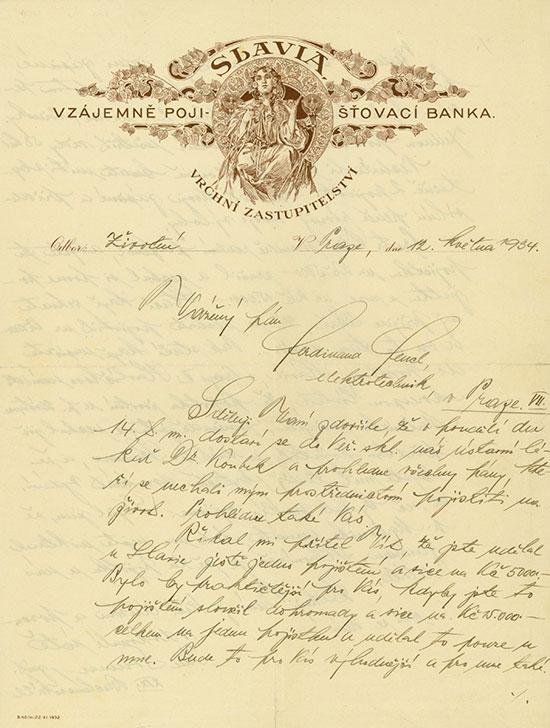SLAVIA Vzájemně Poji-šťovaci Banka Vrchni Zastupitelstvi