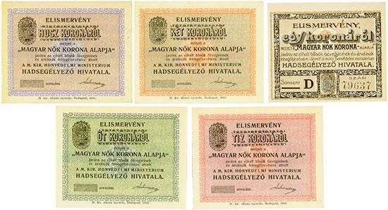 Ungarische Lotterielose [5 Stück]