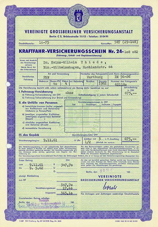 Vereinigte Grossberliner Versicherungsanstalt