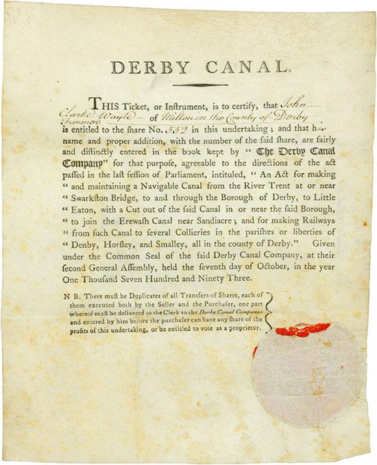 Derby Canal Company - Little Eaton Railway