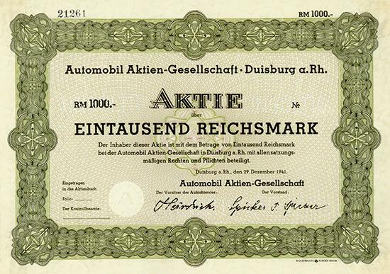 Automobil Aktien-Gesellschaft [2 Stück]