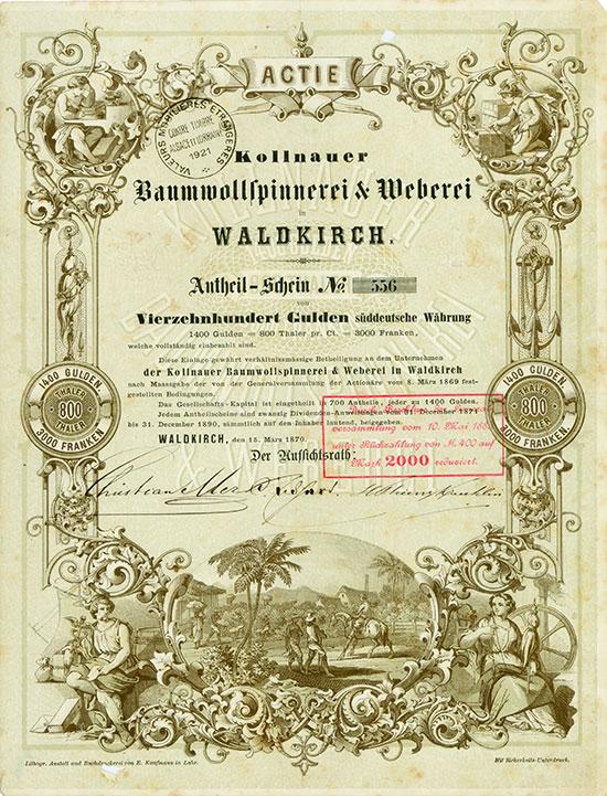 Kollnauer Baumwollspinnerei und Weberei
