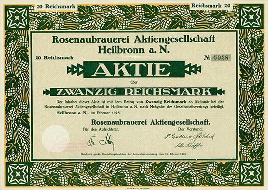 Rosenaubrauerei AG