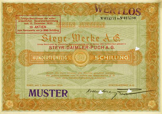 Steyr-Werke A.-G. / Steyr-Austro Daimler-Puchmúvek / Steyr-Daimler-Puch AG [34 Stück]
