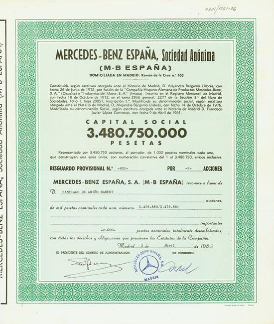 Daimler-Benz International [7 Stück]